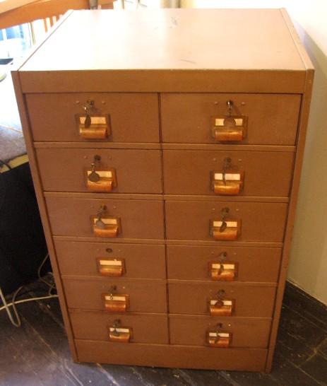 Large Industrial Twelve Drawer Cabinet