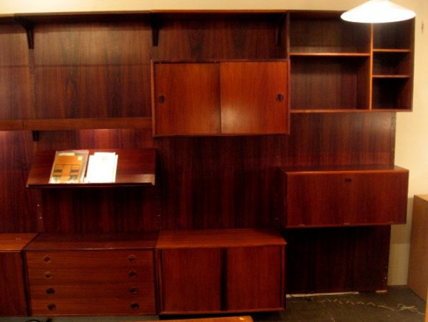 Massive Brazilian Rosewood Paneled Wall Unit from Denmark