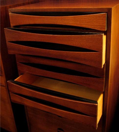 Pair of 1950s Narrow Dressers