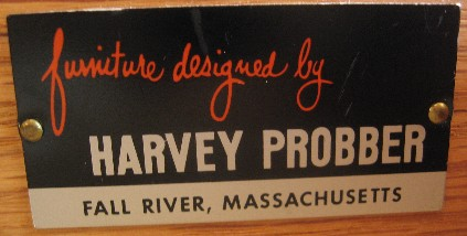 Harvey Probber Mahogany & Brass Nightstands