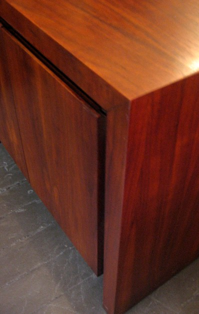 Pair of Two Door Walnut Night Stands/Side Tables
