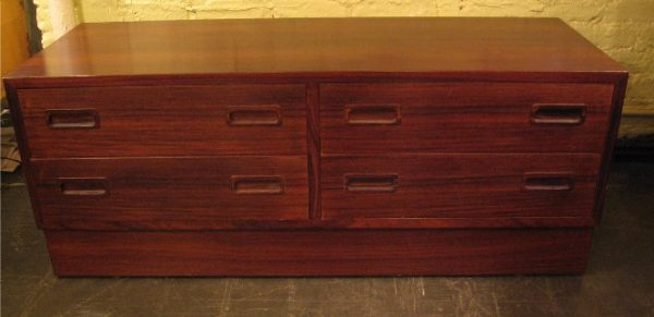 Pair of Danish Brazilian Rosewood Low Chests