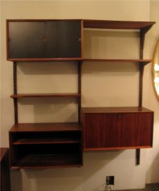 Poul Cadovius 2 Bay Cado System Walnut Wall Unit