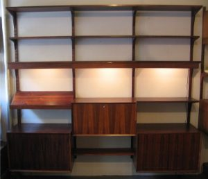Poul Cadovius 3 Bay Cado System Rosewood Wall Unit