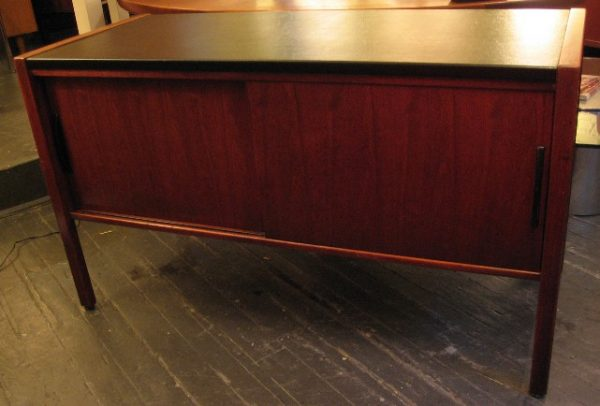 Jens Risom Faux Leather Topped Credenza