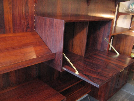Poul Cadovius 3 Bay Cado System Rosewood Panel Wall Unit