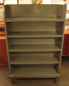 Industrial Gun Metal Rolling Shelf Unit