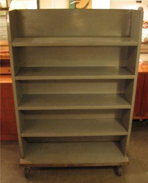 Industrial Gun Metal Rolling Shelf Unit