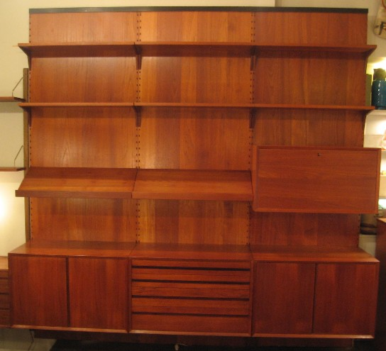 Poul Cadovius 3 Bay Cado System Teak Panel Wall Unit