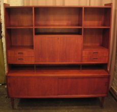 Large Danish Teak Secretary/Bar by Poul Hundevaad