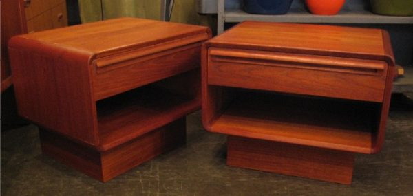 Pair of Danish Teak Night Stands