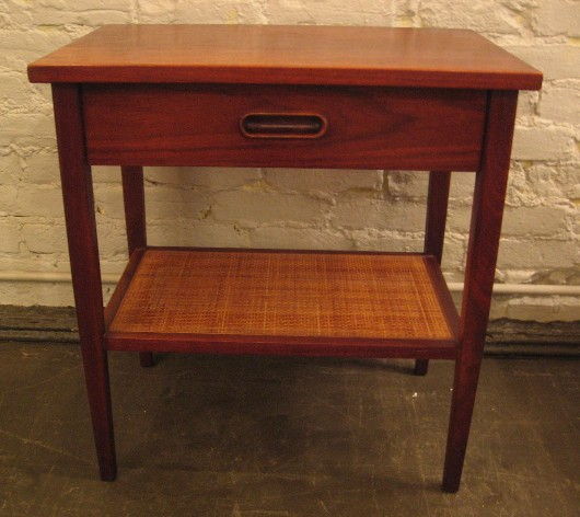 Pair of Walnut Bedside Tables in the style of Jens Risom