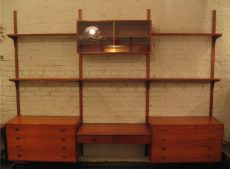 Hansen & Guldborg Three Bay Teak Wall Unit