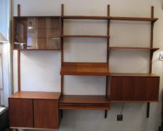 Poul Cadovius 3 Bay Cado System Walnut Wall Unit