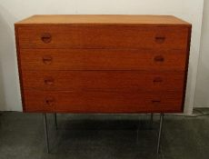 Hansen & Goldburg 4 Drawer Teak Chest