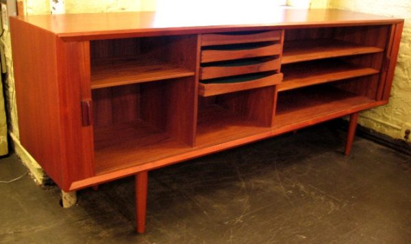 Ib Kofod-Larsen Danish Teak Credenza with Hutch