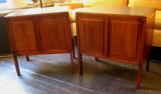 Pair of Slate Topped Walnut Night Stands/Side Tables