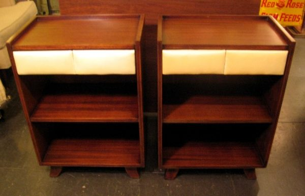Pair of Gilbert Rohde Mahogany Nightstands for Herman Miller