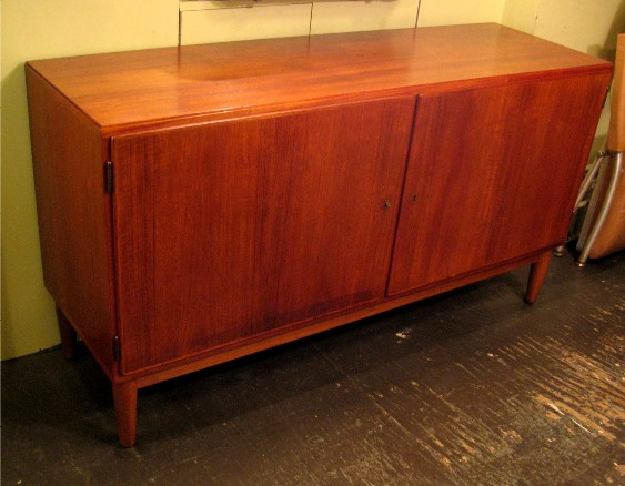 Medium Sized Danish Teak Two Door Credenza