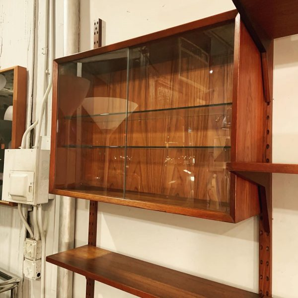 Three Bay Cado Wall System in Teak by Poul Cadovius
