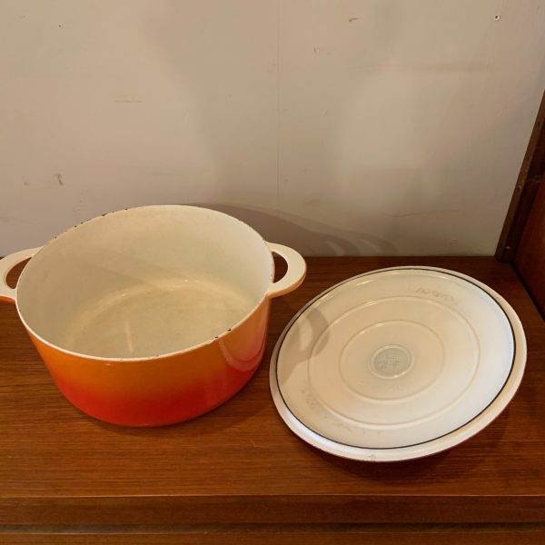 Descoware Flame Red Cast Iron Dutch Oven from Belgium