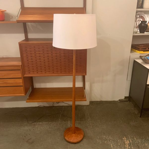 Tapered Teak Floor Lamp from Sweden