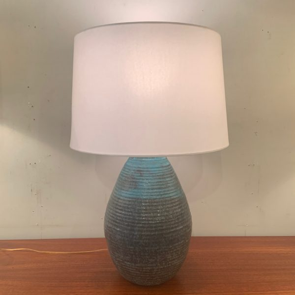 Large Ribbed Table Lamp by Gertrude Rieschke of Greenwich House