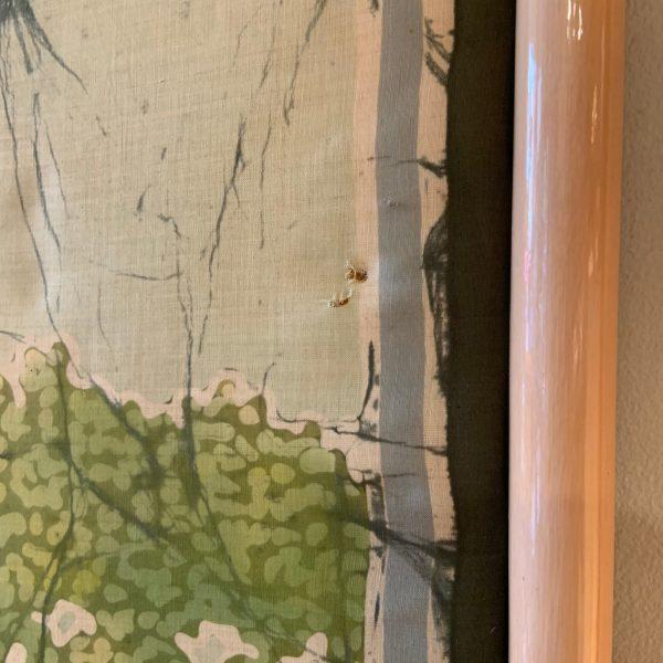 Framed Impressionest Silk Batik from the 1960s