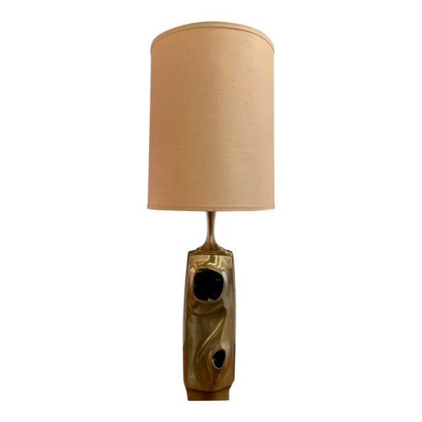 Amorphic Laurel Table Lamp With Chromatic Inlays