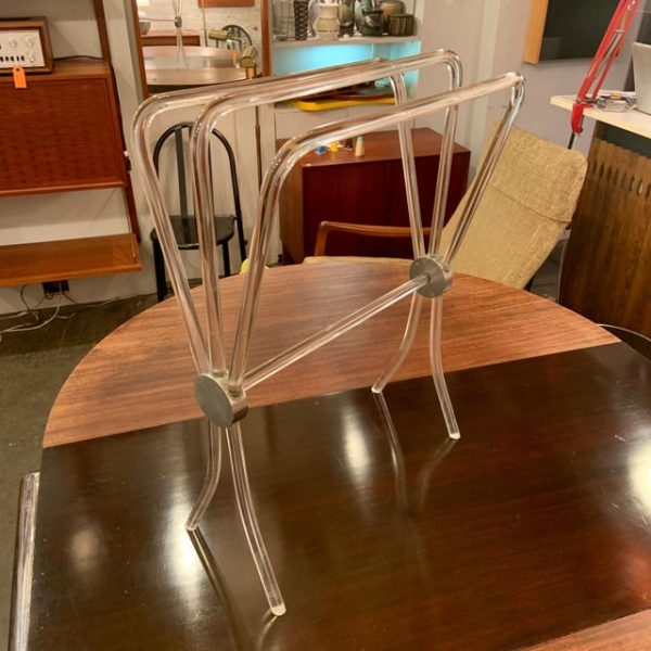 Lucite and Nickel Blanket Rack From the 1960s