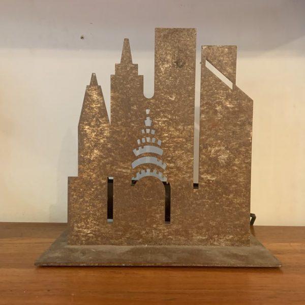 Machined Metal New York Skyline Lamp