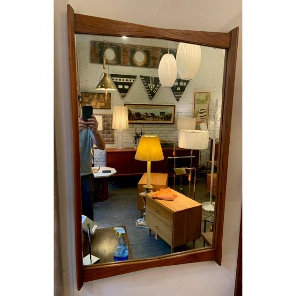 Walnut Decorative Mirror From the 1960s