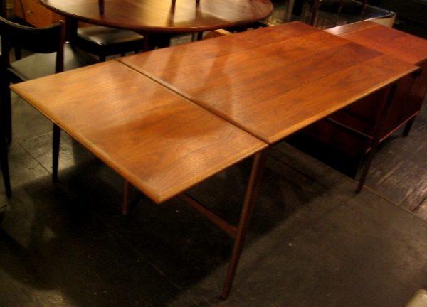 1950s Danish Teak Drop Leaf Writing Table