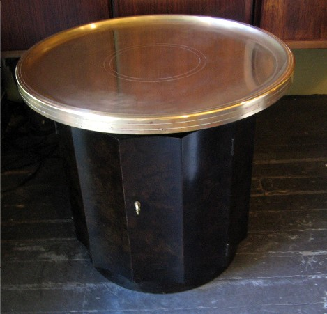 Brass Top Round Side Table