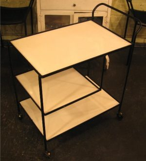 1950s Iron Serving Cart