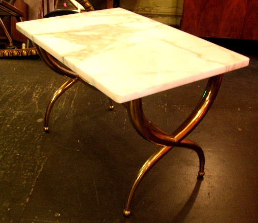 Brass and Marble Cocktail Table from Italy