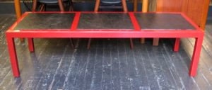 1960s Parsons Style Coffee Table with Slate Inserts