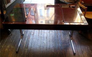 1970s Chrome and Fiberglass Desk by George Beylerian