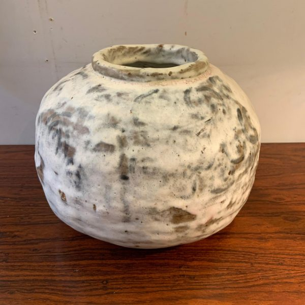1970s Large Round Signed Studio Pottery Vase