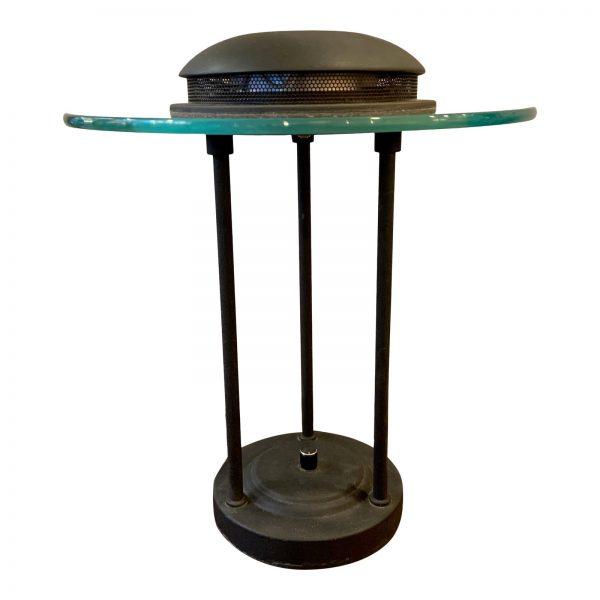 1980s Memphis Style Bankers Lamp in the Manner of Robert Sonneman