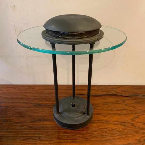1980s Memphis Style Bankers Lamp in the Manner of Robert Sonneman