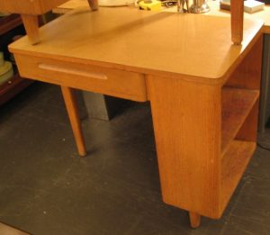 1950's Three Legged Oak Desk
