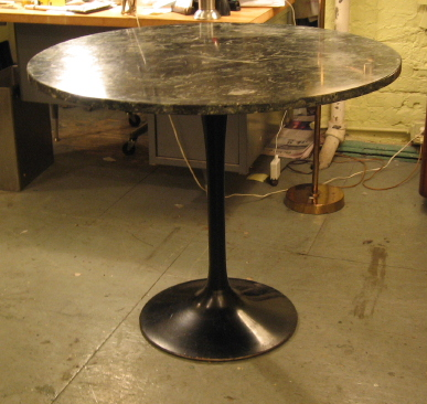 "36"" Marble Top Tulip Table"