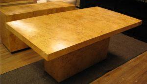 1970's Burlwood Extension Table
