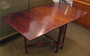 Brazilian Rosewood Gate Leg Dining Table