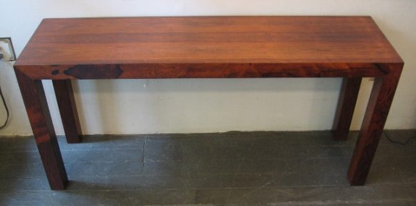 Brazilian Rosewood Parsons Style Console Table