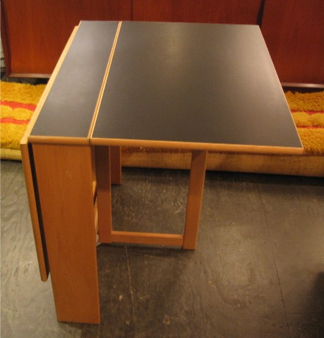 Beech and Formica Gate Leg Table from Sweden