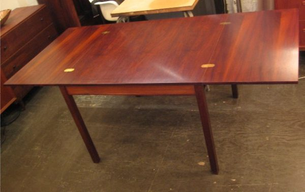 Brazilian Rosewood Flip-Top Extension Table from Denmark