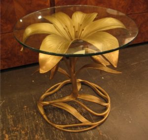 Arthur Court Aluminum Lily Side Table