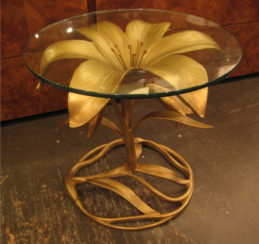 Arthur Court Aluminum Lily Side Table